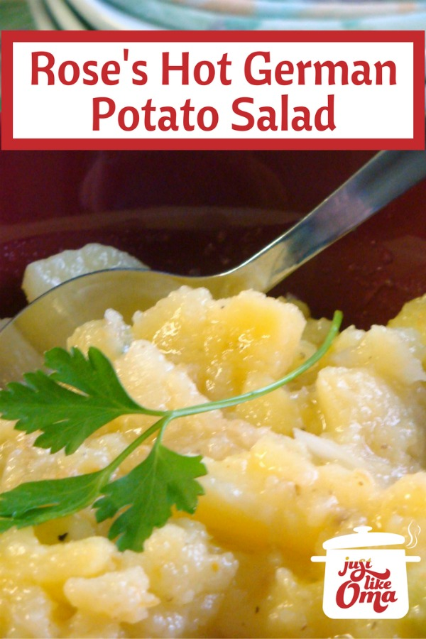 Rose's bowl of hot German potato salad