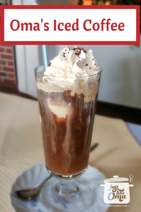 German-style Iced Coffee - such an easy and delicious dessert.