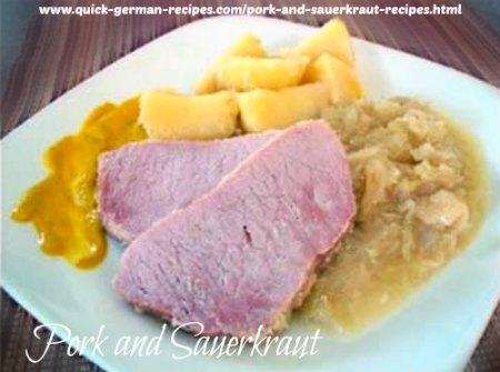 Pork and Sauerkraut - a complete meal