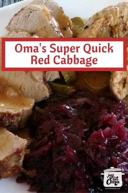 Oma's red cabbage recipe is definitely a family favorite. It's such a traditional vegetable that goes with any meal.