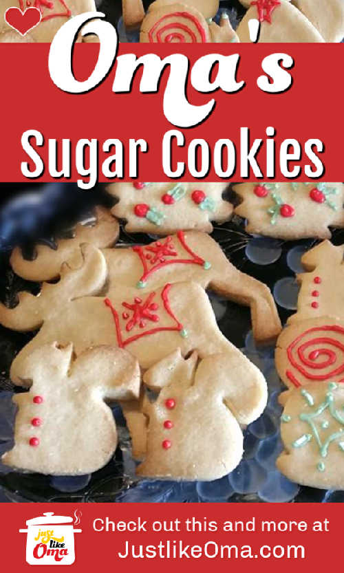 Sugar Cookies ... EASY! Perfect to make with your kids ... so delicious! https://www.quick-german-recipes.com/easy-sugar-cookie-recipe.html #sugarcookies #germanfood #justlikeoma