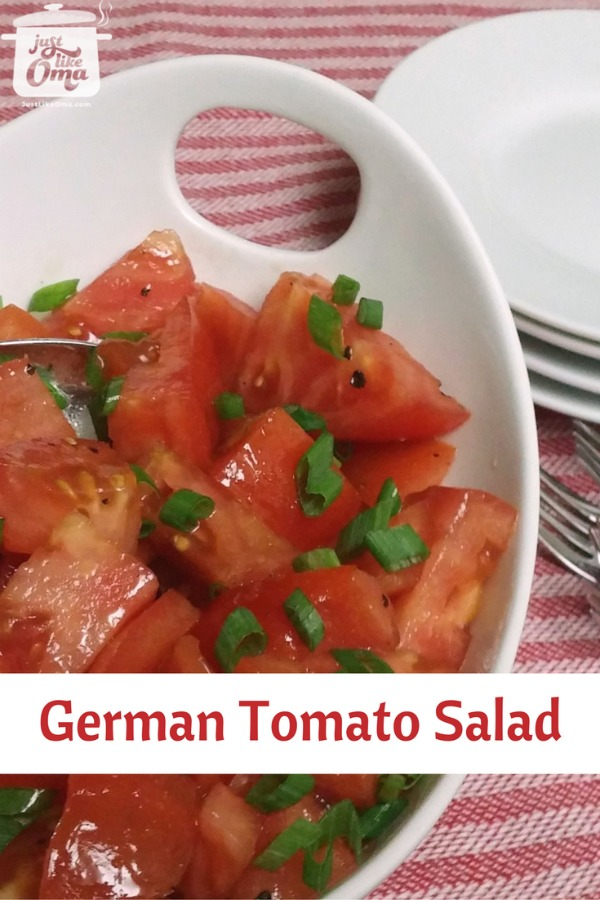 This beautiful tomato salad is perfect for summertime.