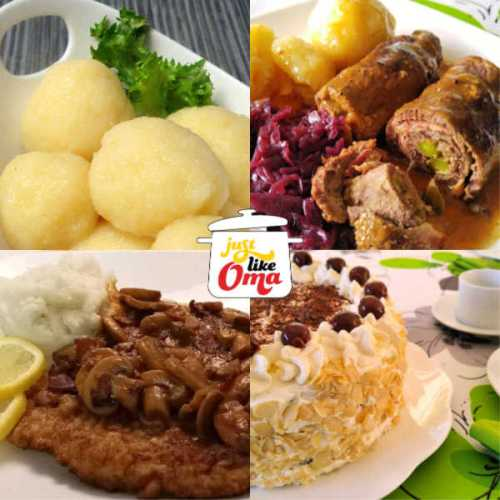 Make traditional German food, just like Oma. From meats to dumplings to desserts and more.