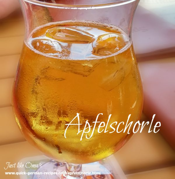 Apfelschorle - delicious, refreshing, extremely popular!