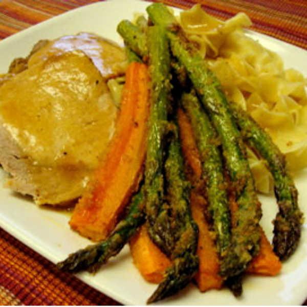 Baked asparagus -- Rich's style  A wonderful technique to get fabulous veggies.