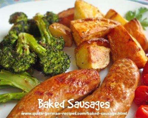 Baked Sausages - quick, no-mess way!