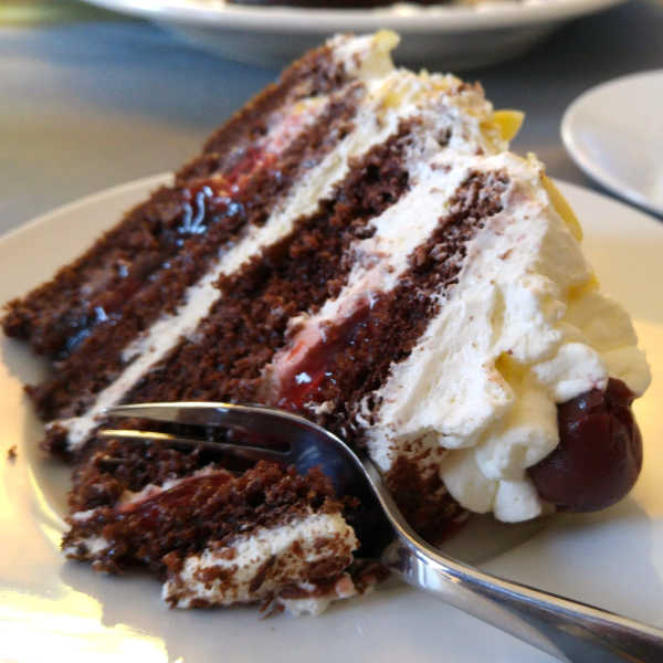 Make this easy version of the traditional Black Forest Cake when you're in a hurry and want some yummy German food.