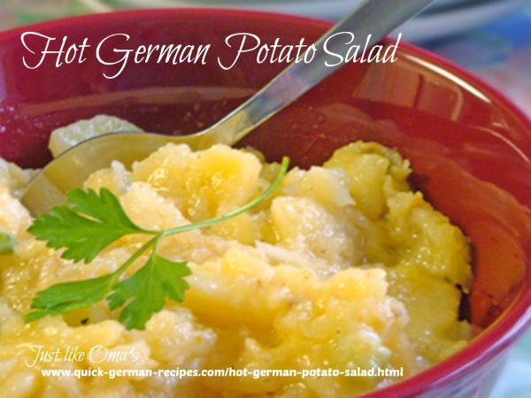 Rose's Hot German potato salad