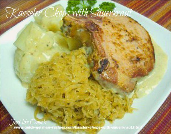 Kasseler Chops with sauerkraut