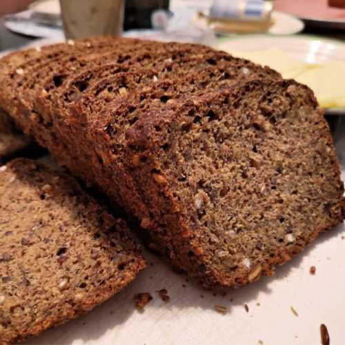 Sourdough Whole Grain No-Knead Bread - Super healthy