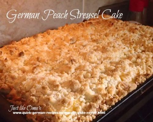 Peach Streusel Cake - another family fav!
