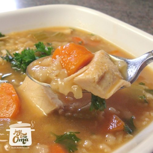 turkey rice or barley soup