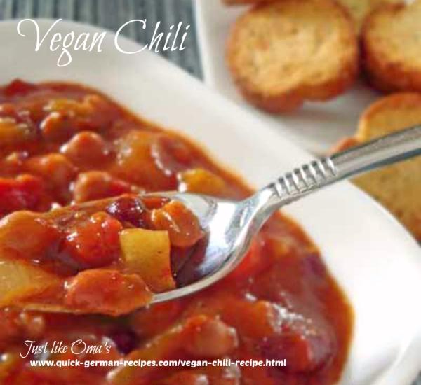 Vegan Slow Cooker Chili - non-German!