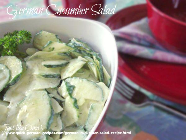 Gurkensalat - creamy German cucumber salad