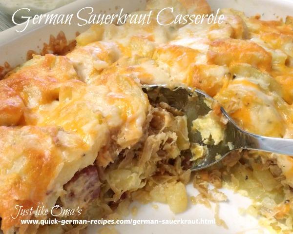 Sauerkraut Casserole using leftovers