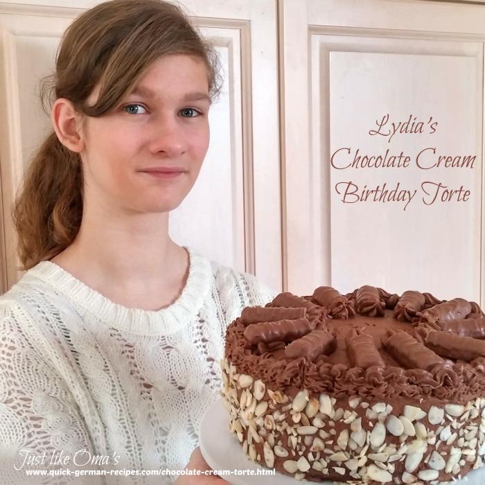 Lydia's Chocolate Cream Birthday Torte