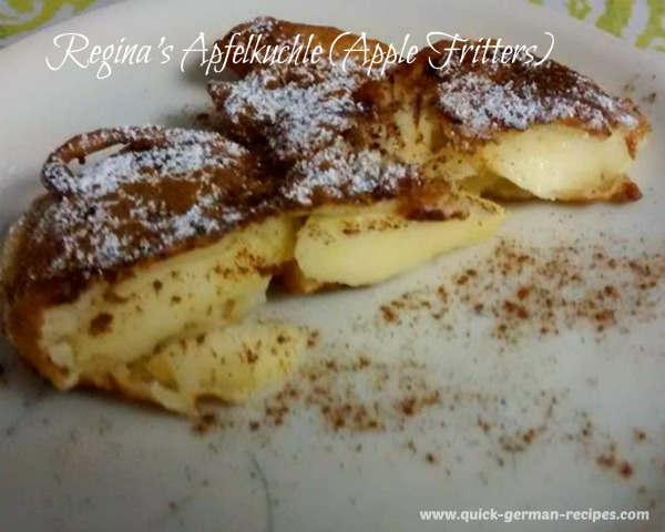 Regina's Apfelkuchle ~ Apple Fritters