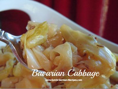 German Food Recips: Bavarian Cabbage