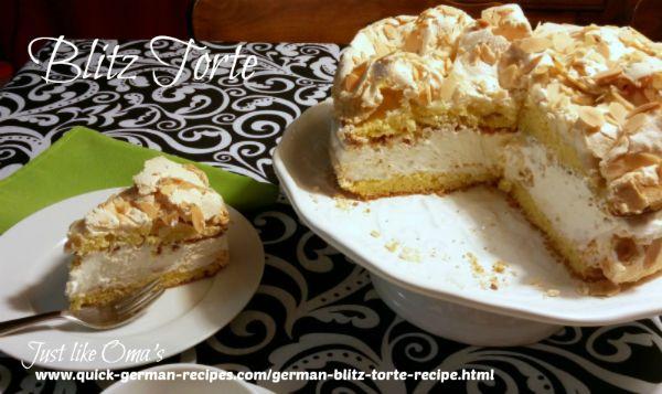German Cake Recipe: Blitz Torte or Berliner Luft