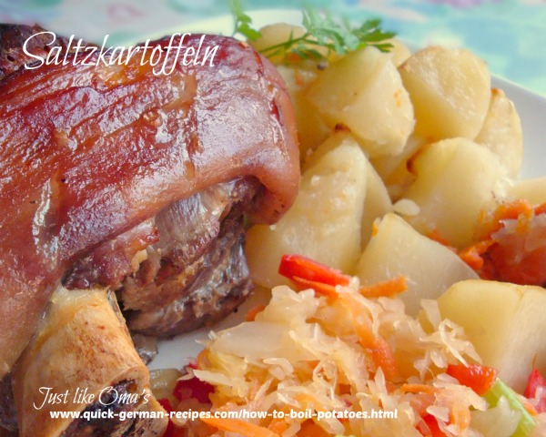 Boiled Potatoes - traditional dish for German meals