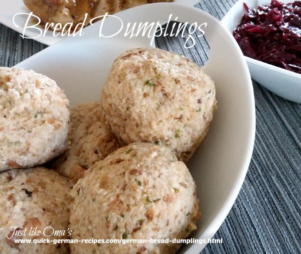German Bread Dumplings | Quick German Recipes