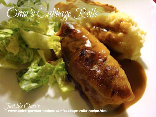 Oma's German Cabbage Rolls Recipe