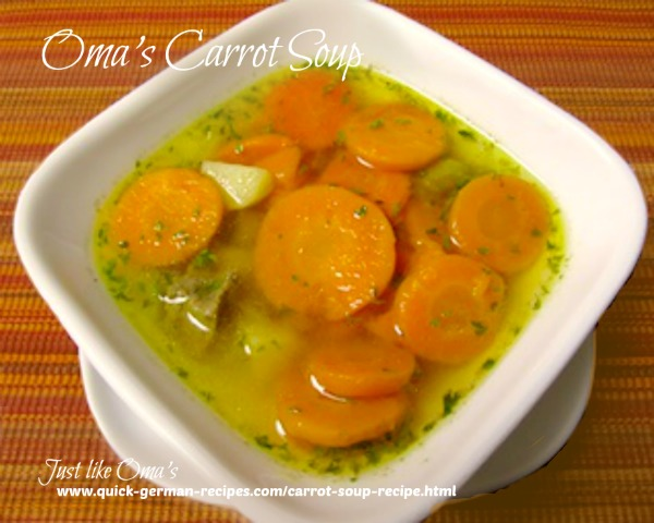 Carrot Soup - filling and nutritious, traditional German meal