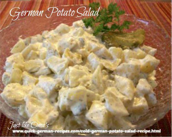 Cold German Potato Salad