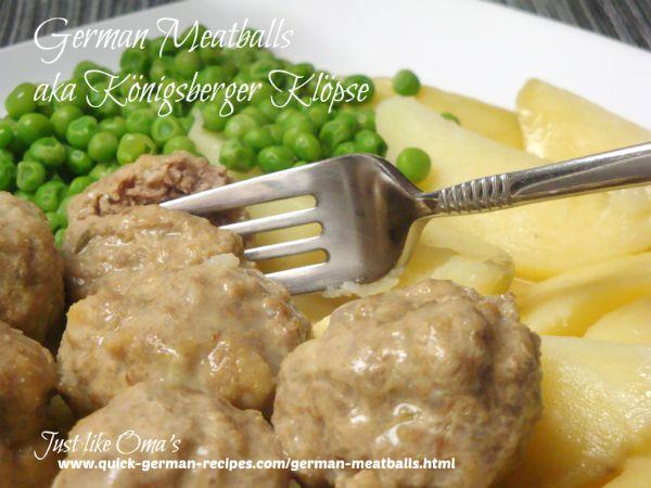 German Meatballs ... Königsberger Klöpse