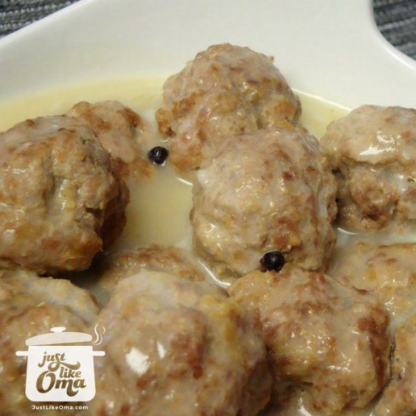 Yummy German meatballs, called Königsberger Klopse