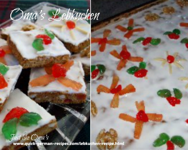 Lebkuchen - traditional German gingerbread cookies