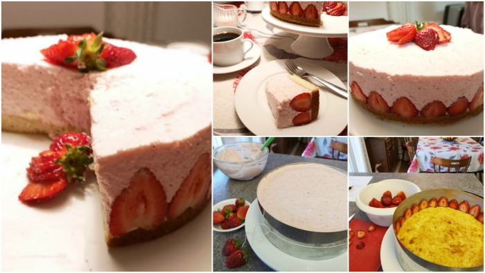 ❤️ Super impressive and super easy! Strawberry Cream Torte, made just like Oma! https://www.quick-german-recipes.com/strawberry-cream-torte.html #justlikeoma #germancake #strawberrycake