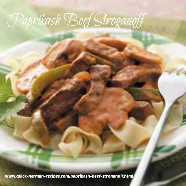 Beef Stroganoff, Paprikash - comfort food