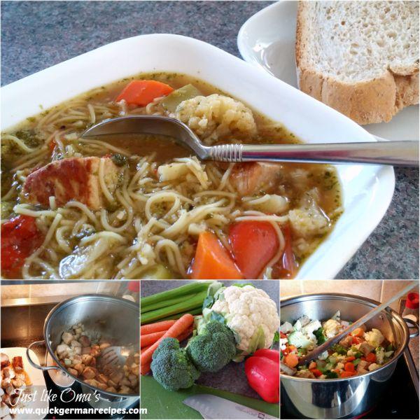 Pork Noodle Soup - makes a huge potful!