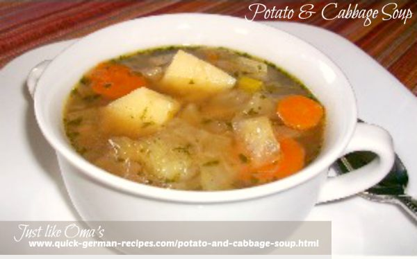 German Potato And Cabbage Soup