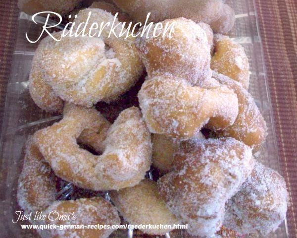 Räderkuchen - little donut-style treats