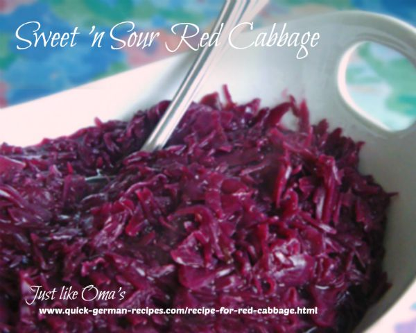Red Cabbage with Apples - apples give added flavor
