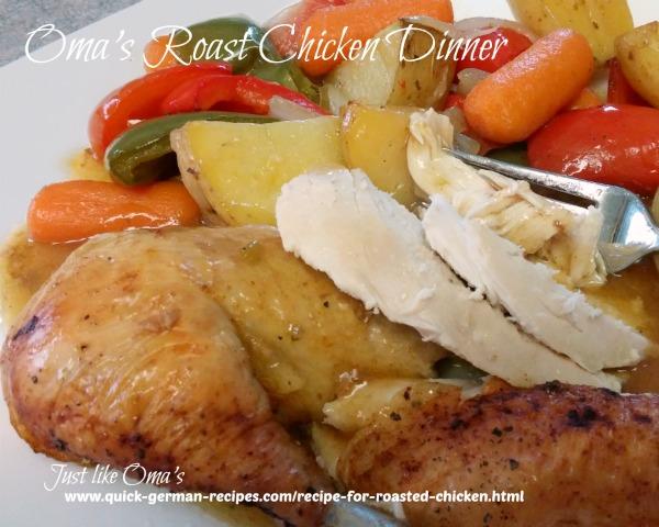 Oma's Roast Chicken Dinner