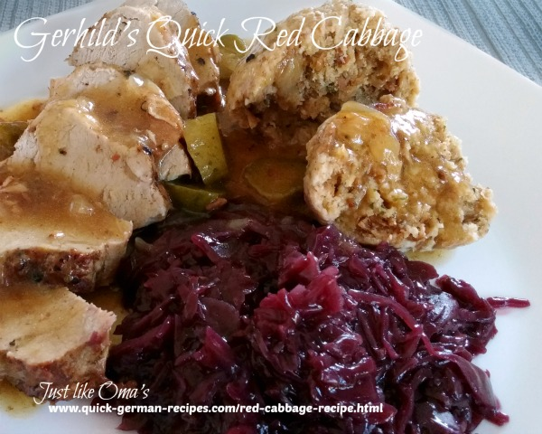 Red Cabbage, Easy - sent in by Gerhild Naggert