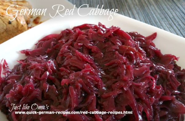 Red Cabbage - seasoned with cloves, sugar, and vinegar