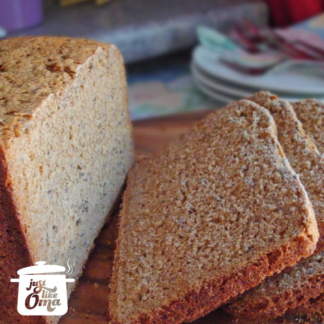 German rye bread using a bread machine. How easy is that!