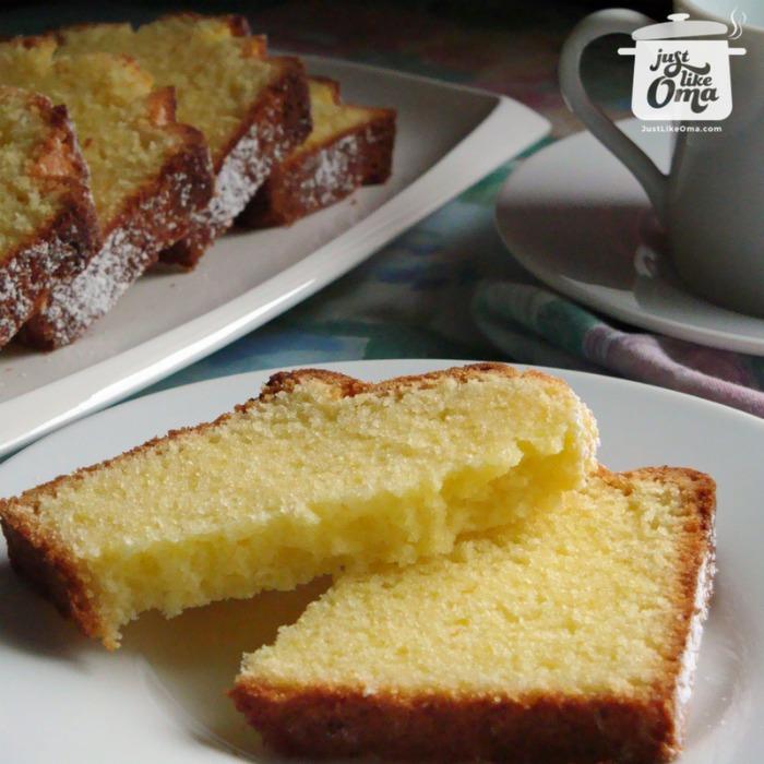 Oma's best Pound Cake Recipe, aka Sandkuchen.