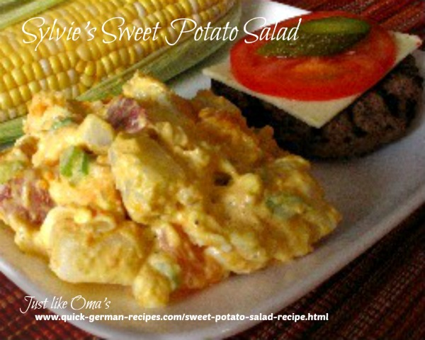 Sweet Potato Salad - pretty touch to traditional salad