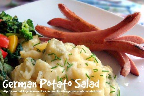 German traditional foods: German Potato Salads