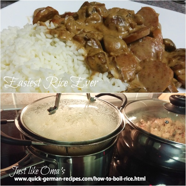 Boil and steam your rice
