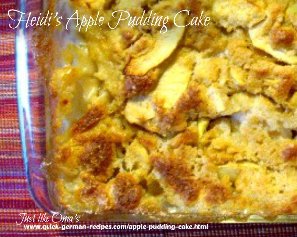 Heidi's Apple Pudding Cake