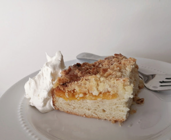 Air Fryer German Crumb Cake Recipe ~  Luftfritteuse Streuselkuchen
