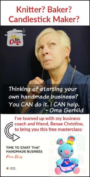 ❤️ Thinking of starting a handmade business. I've got a FREE workshop from my coach right here: https://fulsonwebpublishing.com/formula/ #handmadebusiness #sellmystuff #justlikeoma