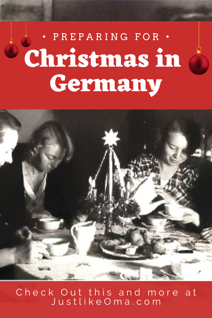Here are my Mutti, her Mutti and her sisters sitting around an Adventskranz