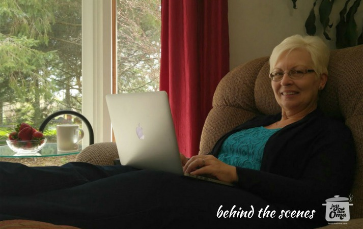 Oma Gerhild, behind the scenes